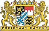 U24 Aufkleber Freistaat Bayern Wappen Autoaufkleber Sticker Konturschnitt