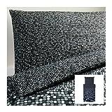 IKEA SMÖRBOLL Bettwäscheset in grau; 2tlg. (140x200cm und 80x80cm); Kopfkissen und Bettbezug; 100% Baumwolle