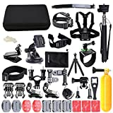 Accessories for Gopro, ccbetter Action camera mounts for Gopro Hero 6 Hero 4 Hero 5 Session Hero 1 2 3 3+ for most of sports camera With Case (Black) by ccbetter