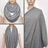 Gray nursing cover scarf, nursing cover,...