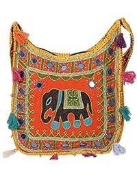 Women's Embordierd Multi Coloured Shoulder Bag/Traditional Bag/Jhola/Jaipuri Rajsthani Bag - B07D7F7JLH