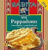 Sabita Pappadums, getrocknete Linsenfladen, 12er Pack (12 x 200 g)