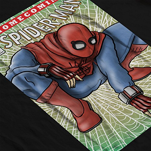 Spider Man Homecoming Comic Cover Women's Hooded Sweatshirt Black
