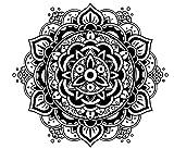Mandala Wandtattoo Schlafzimmer Wandaufkleber Yoga Vinyl Aufkleber Mandala Blume Wandsticker Wohnzimmer Ornament Indischen Sticker Geometrische Marokkanische Boho Decor Bohemian MN340