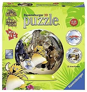 Ravensburger- Puzzle Ball 3D 72 Piezas, La Panda de la Selva (11829)