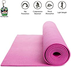 Jogger® Quickshel Non Slip Yoga Mat 6mm Thick and Non-Slippery Washable for Men & Women with Carrying Bag