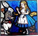 gebeizt Glas Fenster Art Statische Alice im Wunderland–Alice & Weiß Kaninchen