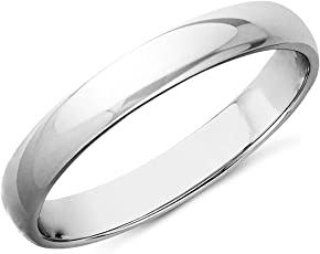 MJ 925 High Polish Regular Wear Unisex Finger Ring Band in Pure 92.5 Sterling Silver