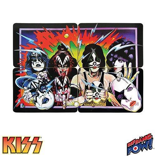 Kiss unverhüllt Untersetzer Set von 4