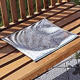 vivaDOMO Thermo-KissenWarmhaltekissen faltbares Sitzkissen Picknickkissen Gartenkissen Bodenkissen Aluminium