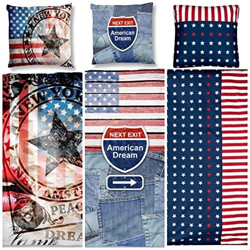 Teenager-Bettwäsche USA Flagge - Aminata - Baumwolle