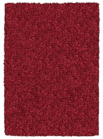 Rizzy Home Rug Hand Tufted in India Collection Kempton contemporary 3' X 3' Round Burgundy