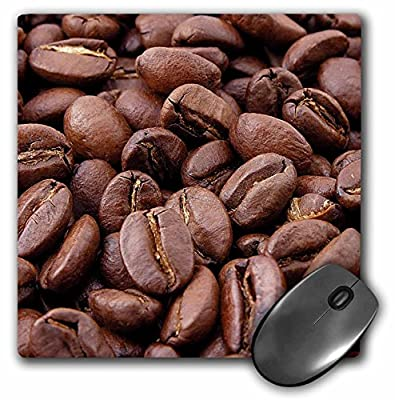 3dRose mp_46808_1 8 x 8 Coffee Beans - coffee, coffee beans, kitchen art, coffee seeds, roasted beans, roasted coffee beans Mouse Pad from 3dRose