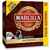 Marcilla Ristretto Capsulas Compatibles Nespresso - 20 Unidades