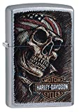 Zippo Harley-Davidson Benzinfeuerzeug, Messing, Edelstahloptik, 1 x 6 x 6 cm