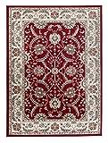 Grand Tapis d'Orient - ROUGE CRÈME - Motif Persan Traditionnel et Oriental - Tapis...
