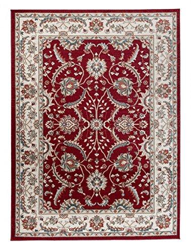 Kashan Roten Teppich (Carpeto Orientteppich Teppich Rot 140 x 200 cm Ornamente Muster Emirat Kollektion)