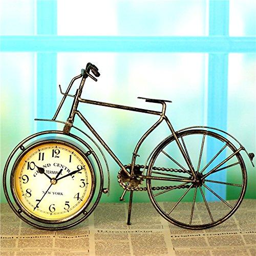 Horloges Murales 12 cm Vélo Décoration de La Maison Style Rétro Silencieux et Non-Coutil Grand Cadran Horloges à Quartz pour Salon / Chambre À Batterie