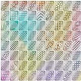 60 Pezzi 5 Fogli 72 Disegni Differenti Set d'Unghie Vinili Adesivi Stencil Carino Facile Unghie Arte Vinili Stencil Fogli immagine