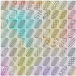 60 Pezzi 5 Fogli 72 Disegni Differenti Set d'Unghie Vinili Adesivi Stencil Carino Facile Unghie Arte Vinili Stencil…