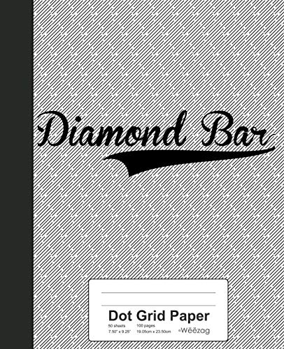 Dot Grid Paper: DIAMOND BAR Notebook (Weezag Dot Grid Paper Notebook, Band 2721) (Paper Diamond)
