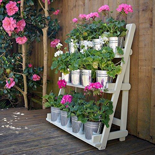 Plant Theatre - Estantería para plantas (3 niveles, madera noble), color verde...