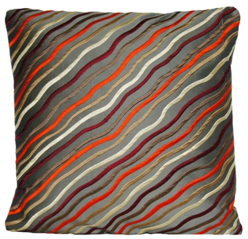 Verde oliva cuscino ricamato Waves Lines Accent Pillow case Xmas Collection Johannes Wellmann tessuto Matisse