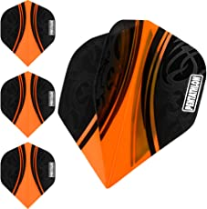 PENTATHLON Farbe plus Dart Flights–Farben–Orange–10Sets (30)