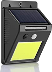 Citra 48 COB LED Solar Lights Outdoor, Konesky [Upgraded Version] Motion Sensor Security Lights, IP65 Waterproof Wireless Solar Powered Lights, Outdoor Wall Light for Patio, Yard, Garden, Garage,Fence