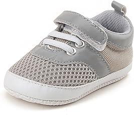DELEBAO Baby Sneaker Babyschuhe Turnschuhe Krabbelschuhe Lauflernschuhe Mesh Atmungsaktiv Weicher Sohle für Baby Kleinkinder