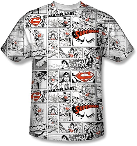 Superman - - Männer Comic Seite All Over T-Shirt White