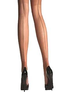 Yummy Bee Collants Transparent Silky avec Couture Arrière et Couture Havana  Talon - Grande Taille 36 ee74c8171a4