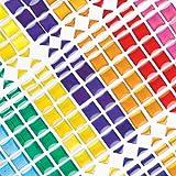 Baker Ross Selbstklebende Mosaiksteine - zum Basteln und Aufkleben für Kinder - 375 Stück