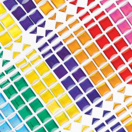 Selbstklebende Mosaiksteine - zum Basteln und Aufkleben für Kinder - 375 Stück