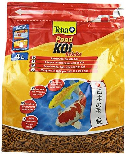 Tetra Pond Koi Sticks Hauptfutter (in Form hochwertiger, schwimmfähiger Futtersticks speziell für Koi entwickelt), 4 Liter Beutel