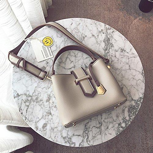 Pacchetto LiZhen donna nuova marea di mano il secchio d'acqua e piccoli pacchetti pacchetto Ladies borse e unico alla moda borse tracolla messenger bag, grigio Grigio
