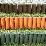 rg-vertrieb Palisade Beetumrandung Rasenkante Beeteinfassung Zaun 2,1m Grün Braun Terrakotta zur Auswahl (Braun)