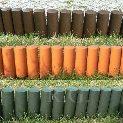 Palisade Beetumrandung Rasenkante Beeteinfassung Zaun 2,1m grün braun terrakotta zur Auswahl