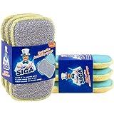 MR.SIGA éponge à récurer double action; par lots de 6, dimension 15 cmx8.5 cm x 2.3 cm