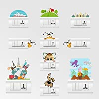 Rawpockets Color Switch Board Combo No.40' Wall Sticker (PVC Vinyl, 15 cm x 20cm, Set of 10, Multicolour)