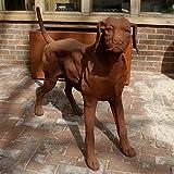 Standing Rhodesian Ridgeback Dog - Garden Statue/Ornament/Feature/Cast Iron/Life Size preiswert