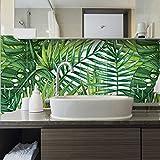 (Confezione 15 Pezzi) Adesivi per Piastrelle Formato 20x20 cm - Made in Italy - PS00119 Jungle Adesivi in PVC per Piastrelle per Bagno e Cucina Stickers Design