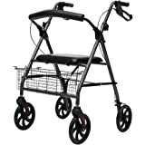 Elderly Walker With Seat Rehabilitation Auxiliary Walker Older's Trolley Handrail Frame Foldable Rest Chair Shopping Cart (Co