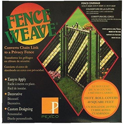 Zaun Weave-Schwarz-250Ft Rolle (Zaun Weave Weiß)