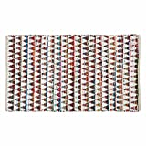 Homescapes - Tapis Chindi Multicolore à Motif Triangles, Fabrication Artisanale - Chindi - 120 x 170 cm...