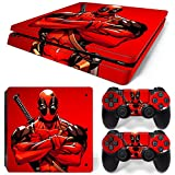 GoldenDeal PS4 Slim Skin and DualShock 4 Skin - Super Hero - PlayStation 4 Slim Vinyl Sticker for Console and Controller Skin