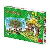 Dinotoys 381155 Qualität Puzzle;Kleines Maulwurf-Motiv, 2x48 Stück