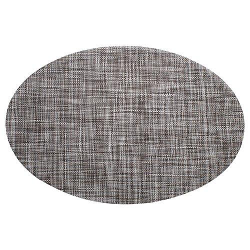 TREESTAR Set de Table Ovale Tapis Table Durable AntidéRapant Lavable Napperons en PVC Vaisselle Tasse Tapis Size 45 * 30cm (Gris)