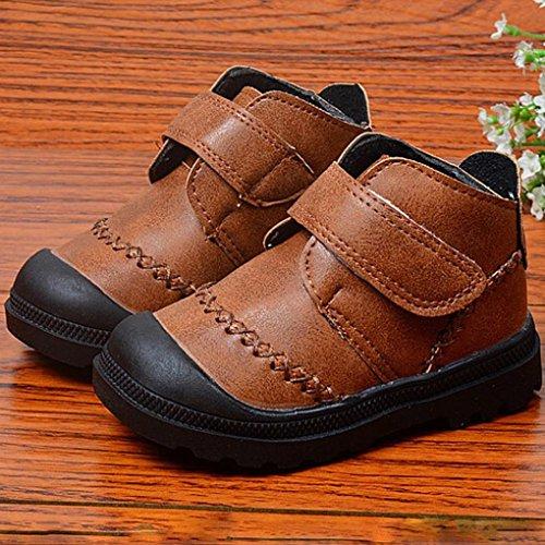 Jamicy® Kleinkind Kleinkind Baby Mädchen jungen Kinder Winter Dicke Schnee Stiefel Lederschuhe Braun