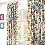 """Marinelli - Thermal Lined Pencil Pleat Curtains - 66x72"""" (168 x 183cm), Teal"""